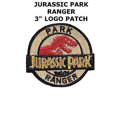 "Jurassic Park World Movie Ranger Logo 3"" Embroidered Iron/Sew-On Patch Dinosaurs"