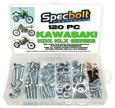 120pc Bolt Kit Kawasaki KDX 175 200 220 225 250 KLX KLR 110 Plastics body frame segunda mano  Embacar hacia Argentina