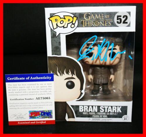 Isaac Hempstead Wright Signed Autograph Bran Stark Game of Thrones Funko POP PSA