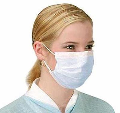 Surgical Medical Coldflufluid Resistant 50 Face Masks 3 Ply Ear Loop Ships Usa