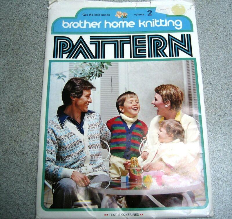 Vintage - Brother home knitting Pattern volume 2