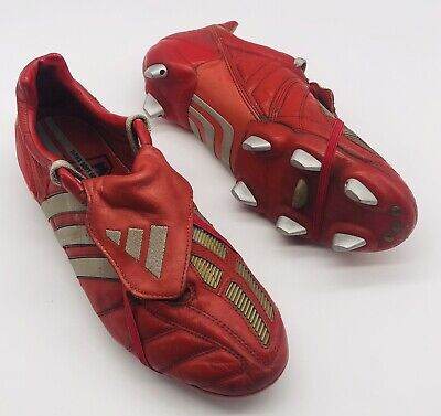 2002 ADIDAS PREDATOR MANIA SG RED EDITION UK SIZE 8 US 8.5 FOOTBALL BOOTS