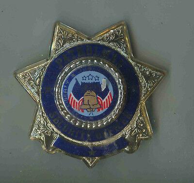 Officer Brust (USA:Polizei-Brustabzeichen Alte Art: Patrolman Security Officer - Plastik)