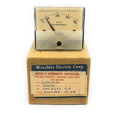 Simpson Electricweschler Ga332 Panel Meter Analog 0-400 Ac Amperes Amp