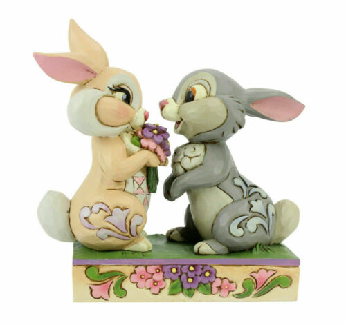 Jim Shore Disney Traditions THUMPER AND BLOSSOM Bunny Bouquet 6005963 NEW in Box