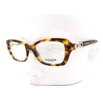 Coach HC 6051 5238 Elvira Eyeglasses Glasses Yellow Brown Tortoise (Yellow Eye Glasses)