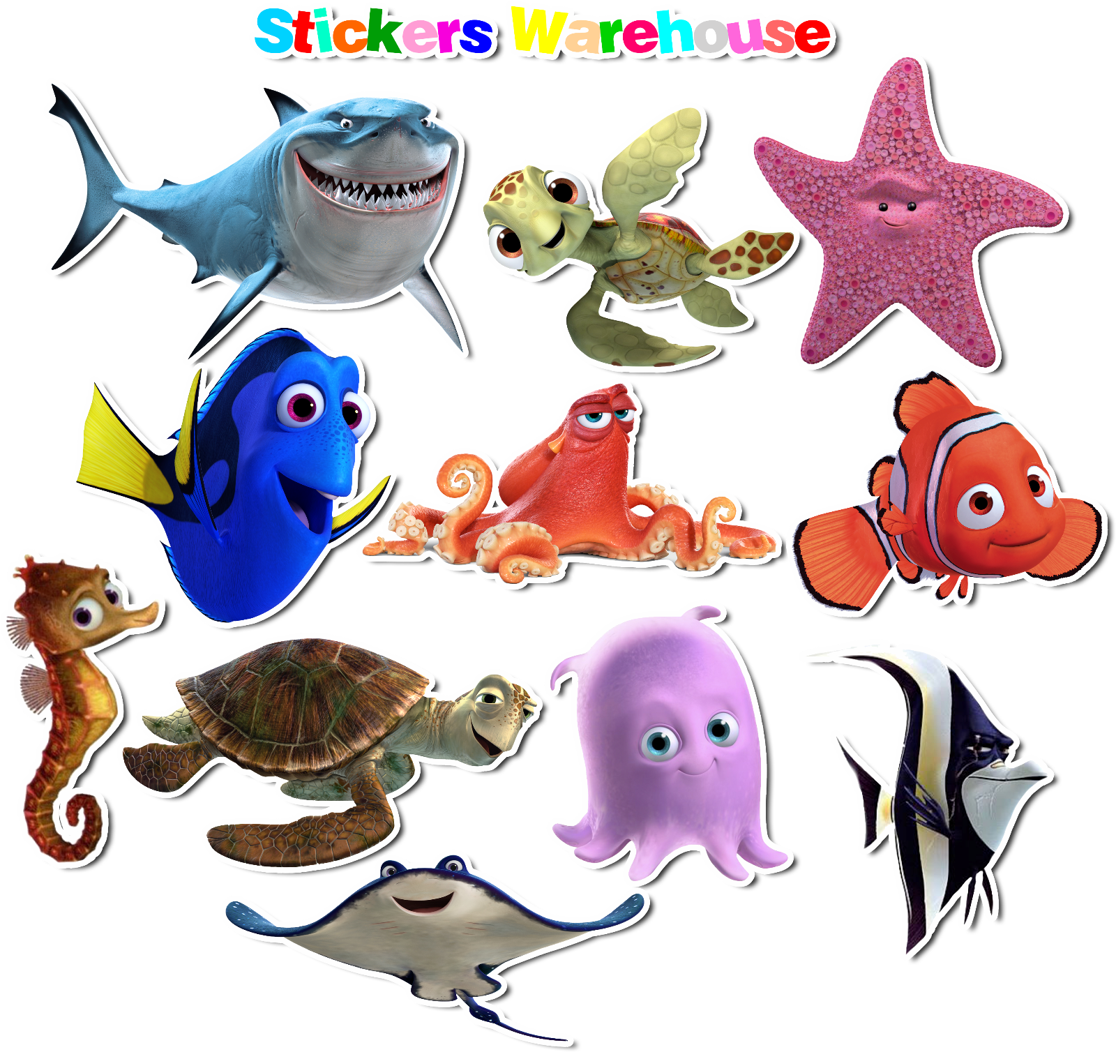 Home Decoration - Finding nemo theme Vinyl Stickers set for bathroom kids room decoration