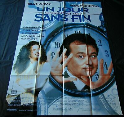 "Groundhog Day *French Movie Poster Original 47""63"" *1993 Double Sided"