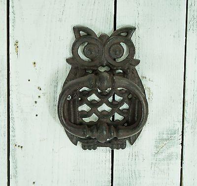 Retro Vintage Owl Design Cast Iron Ornate Door Gate Knocker Decor