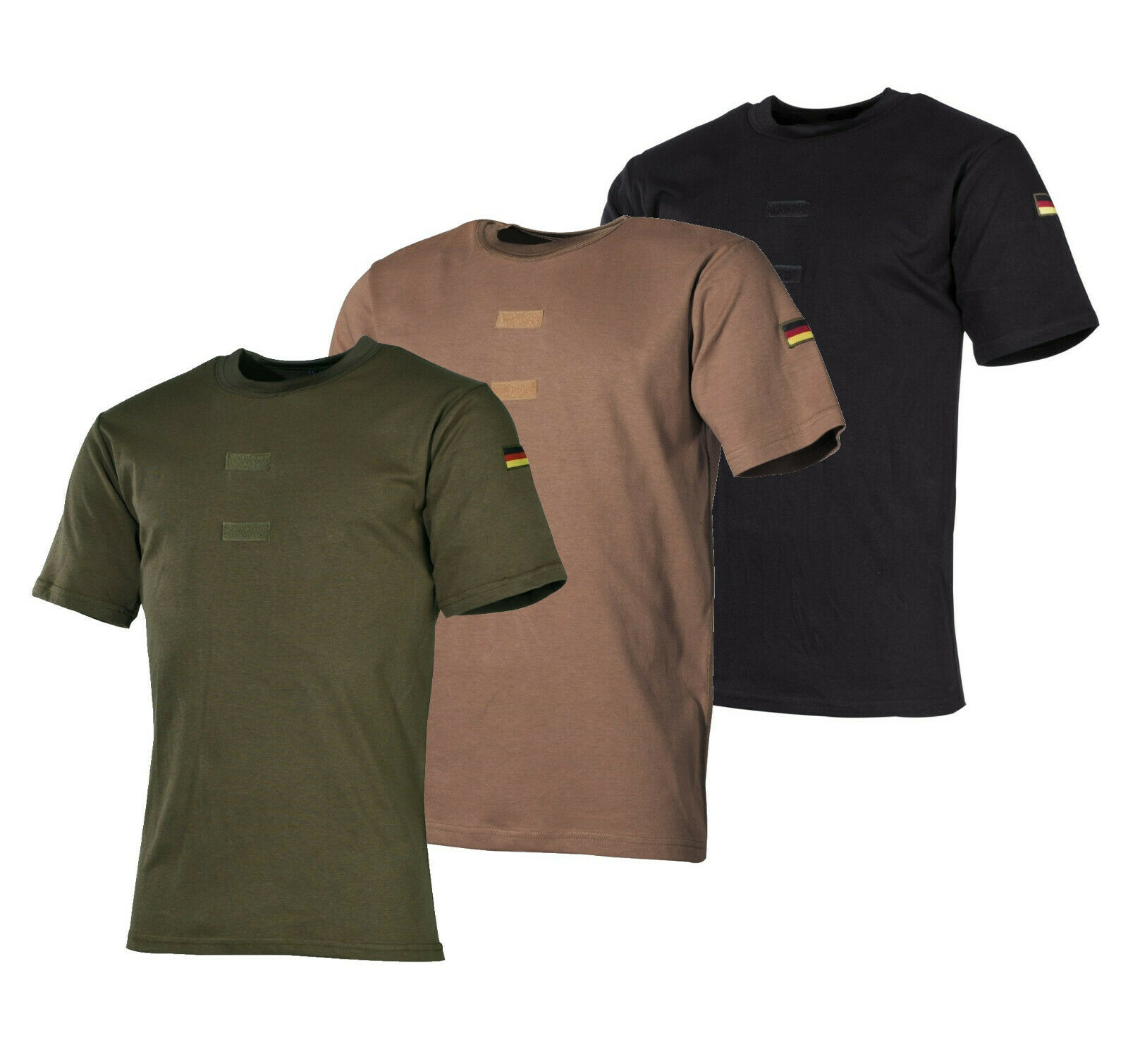 2er 3er Pack Original Bundeswehr T-shirts Tropen Bw T-shirt Khaki Unterhemd Shirts & Hemden