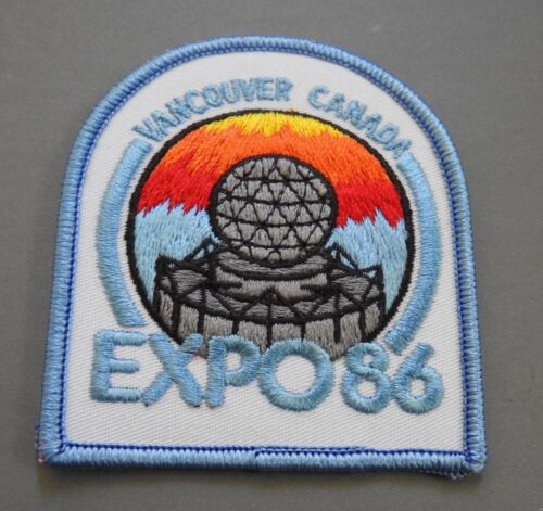 travel souvenir embroidered patch EXPO 86 World