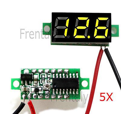 5x Green Dc 0-30v Led Display Digital Voltage Voltmeter Panel For Breadboard