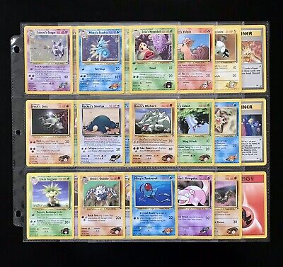 Pokemon GYM HEROES Cards Lot HOLO Sabrina's GENGAR Seadra RARE Rhyhorn SNORLAX +