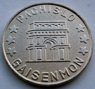 PACHISLO GAISENMON Arc de Triomphe Token 25mm 5.3g CuNi II2.5 for sale  Shipping to Canada