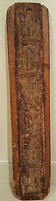 Vintage Mid-century Hand Carved Wood Wall Art