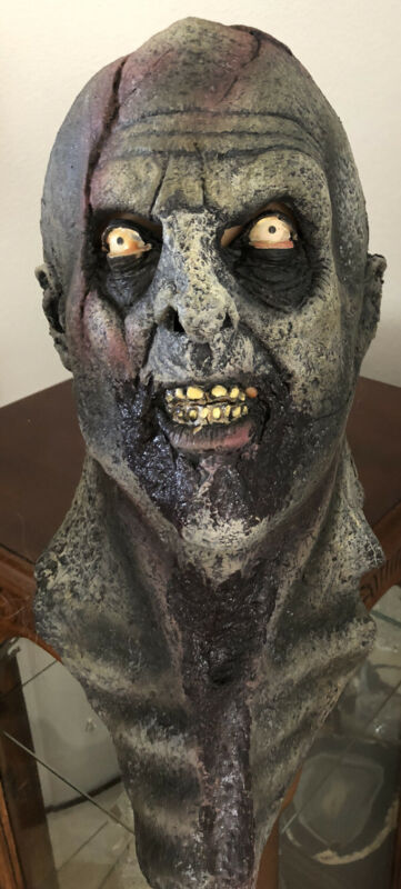 Vintage Realistic Scary Zombie Halloween Mask Made In Mexico