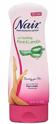 Nair Hair Remover Lotion For Legs - Body Aloe - Lanolin 9 oz (Pack of (Best Hair Removal Lotion)