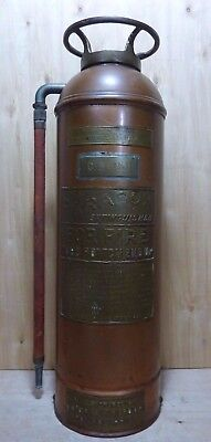 Old PARAGON CRR of NJ CENTRAL RAILROAD Large Copper Fire Extinguisher Phila USA