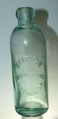 QUITMAN GA HUTCHINSON SODA BOTTLE HUTCH NICE !!