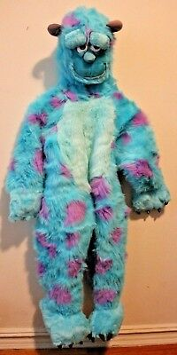 Disney Store Monsters Inc Sully Plush Costume Size XS Kids 4-6 Excellent - Kids Costume Stores