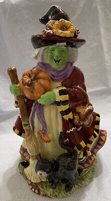 """Halloween Witch Figurine - Signature Home Collection Ceramic Autumn Witch 12"""""""