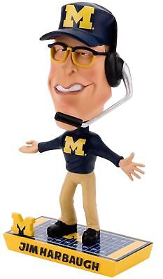 NCAA Michigan Wolverines Jim Harbaugh Limited Edition Caricature Bobblehead New