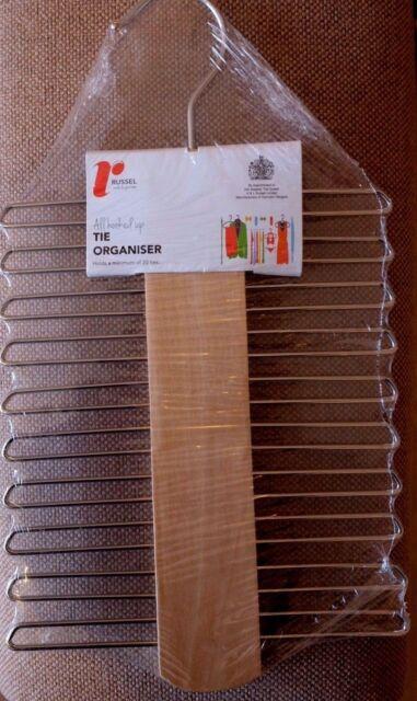 Russel Wooden Tie Hanger / Rack / Organiser-new UK p&p free