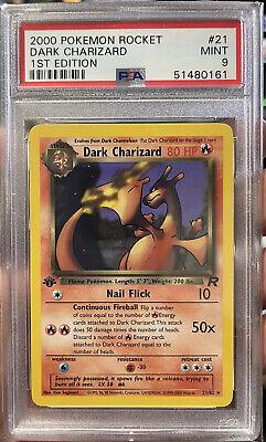 Pokemon 1st Edition Dark Charizard Non-Holo #21 PSA 9