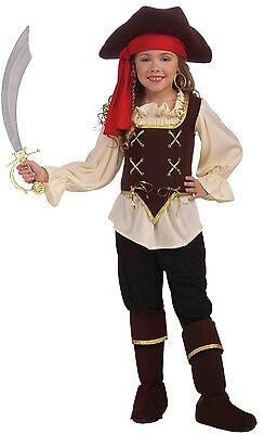 Girls Buccaneer Pirate Costume High Seas Halloween Fancy Dress Child Kids NEW (Pirate Costumes For Girls)