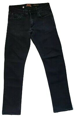 SUPERDRY Corporal Slim Fit (Black) Jeans Size 33x32