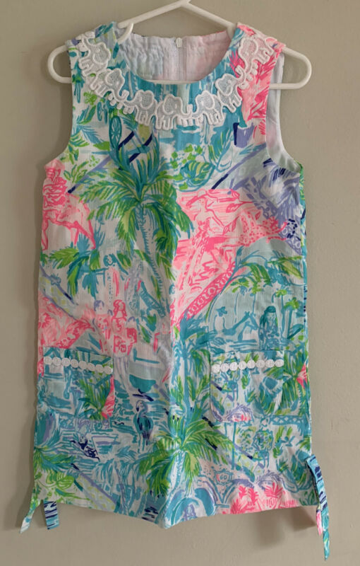 Lilly Pulitzer Girls Shift Dress Bohemian Queen Size 6