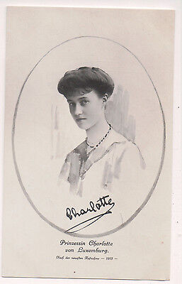 Vintage Postcard Charlotte, Grand Duchess of Luxembourg