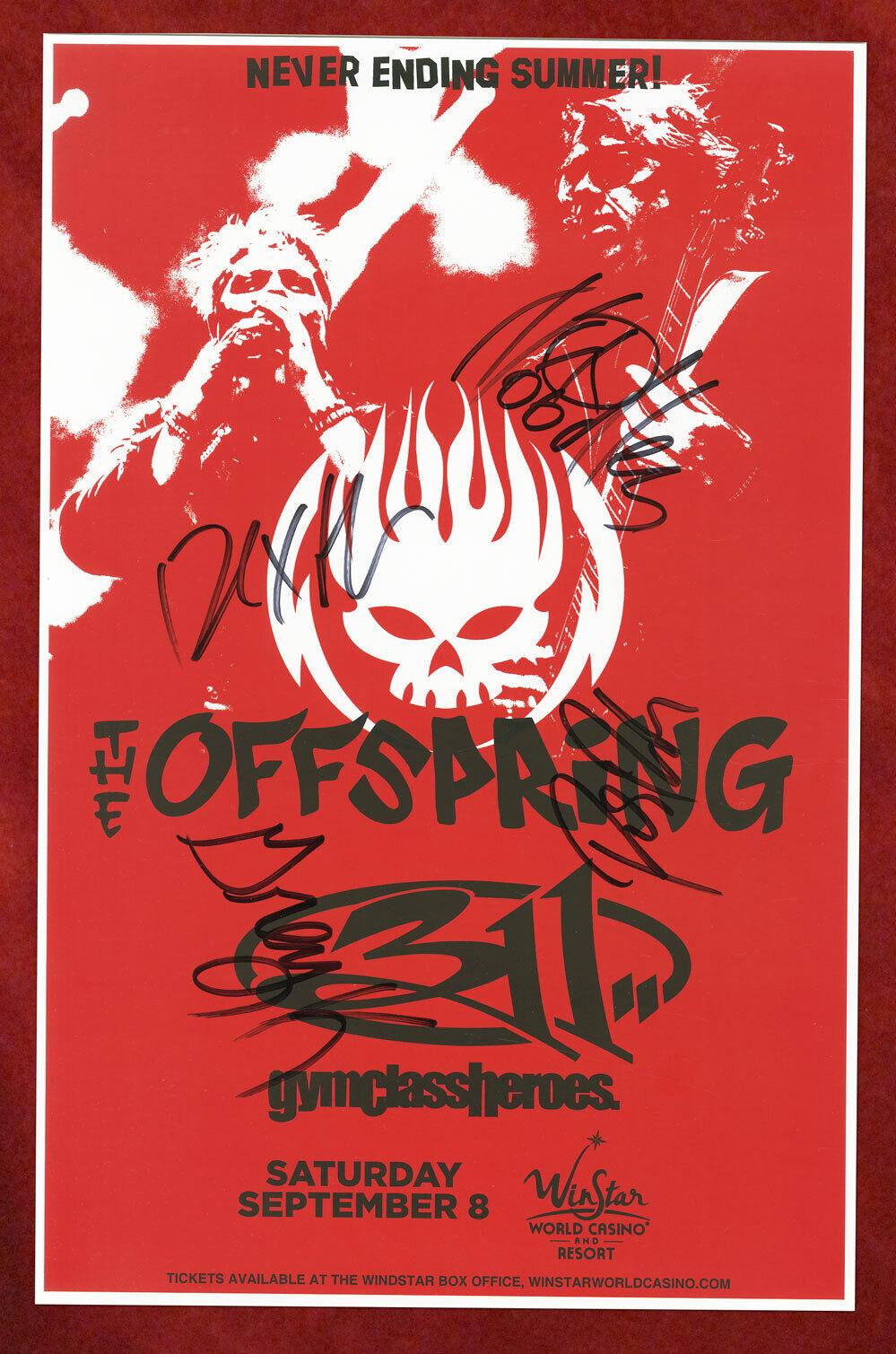 The Offspring Autographed Concert Poster 2018 Pete Parada, Noodles, Greg Kriesel - $47.00