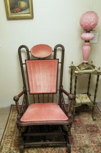 George Hunzinger Oak Barley Twist Rocking Chair Exceptional Design Quality