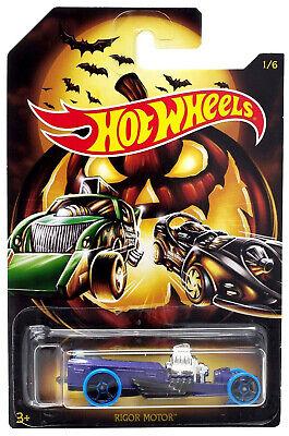 2019 Hot Wheels 1/64 Happy Halloween Rigor Motor Die-Cast Car #1/6 GBC55