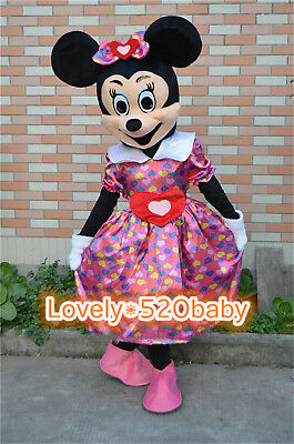 【TOP SALE】Minnie Mouse Mascot Costume Cartoon Character Cosplay Dress Adult Suit