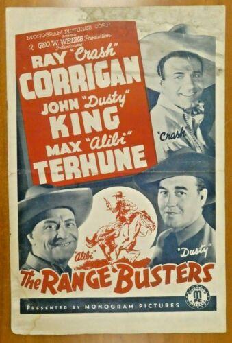 The Range Busters 1940 Vintage Movie Press Book