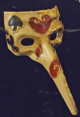 Venetian Mask Masquerade Drama Mens JOKERS WILD Costume Mardi Gras Party](Jokers Wild Costume)