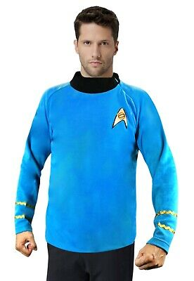 Star Trek Spock CLASSIC Blue Shirt Costume uniform TOS Science Officer](Policeman Uniform)