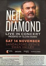 Neil Diamond Tickets x 2 seated - REDUCED Mindarie Wanneroo Area Preview