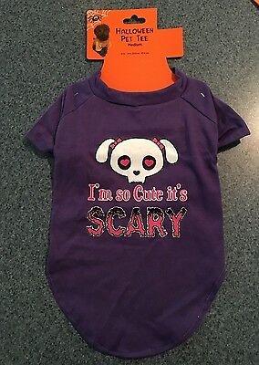 NEW ~ HALLOWEEN Dog Shirt Size Medium ~I'm So Cute It's Scary!~
