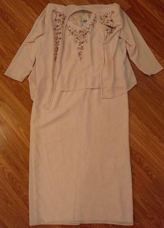 Women's Formal Jacket & Dress Size 16P Petite R&M Richards Mother of the Bride