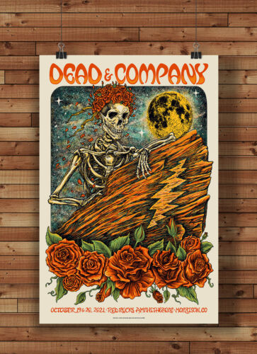 Dead and Company Red Rocks Poster Photo Poster Print Grateful Dead 2021 Reprint