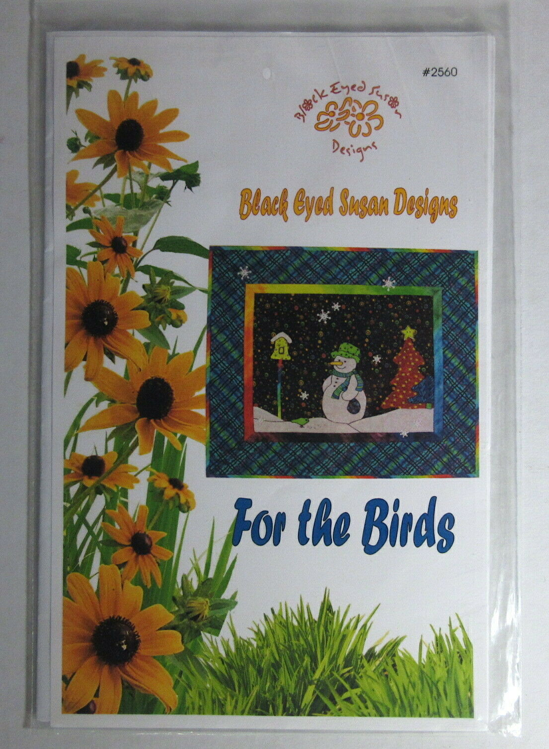 Black Eyed Susan QUILT Block Design Pattern Snowman Christmas 2560 For The Birds - $4.99