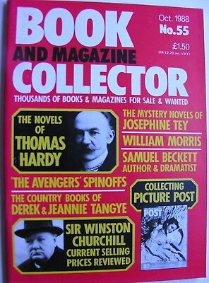 BOOK AND MAGAZINE COLLECTOR - OCTOBER 1988 THE AVENGERS ITC UK PRICE GUIDE