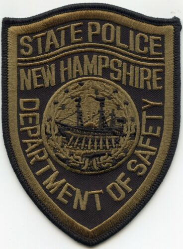 NEW HAMPSHIRE NH STATE POLICE Subdued Green POLICE PATCH