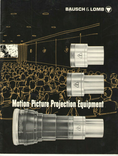 VTG 1965 BAUSCH & LOMB MOTION PICTURE PROJECTOR LENS CATALOG! THEATERS/DRIVE-INS