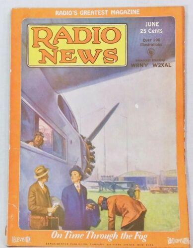 Radio News Magazine Gernsback, June 1929 - Radio and Aviation