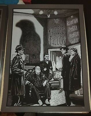 New Flesh N.E. Movie Art Print Poster Mondo The Maltese Falcon Humphrey Bogart