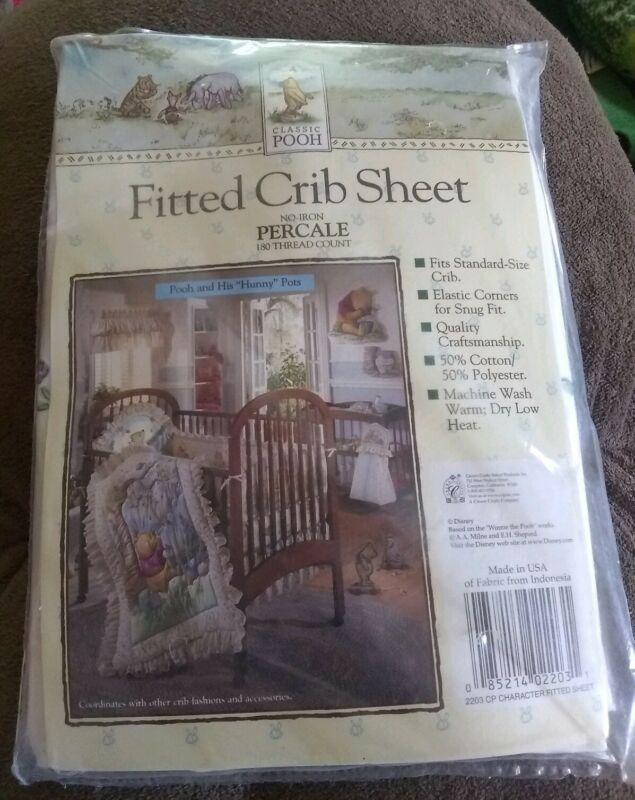 CLASSIC WINNIE THE POOH & His Hunny Pots Crib/Toddler Fitted SHEET